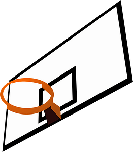 Basketball backboard and rim clipart