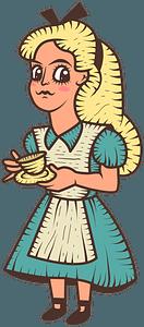 Alice in Wonderland clipart