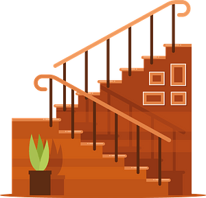 Staircase to 2nd floor clipart