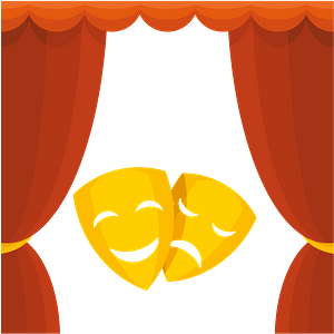 Theater drama comedy clipart