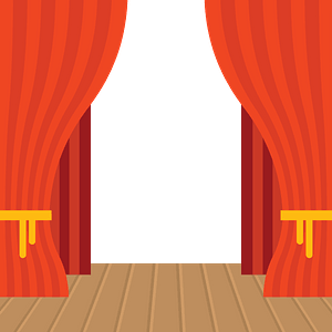 Theater stage clipart
