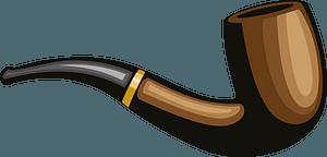 Tobacco pipe clipart