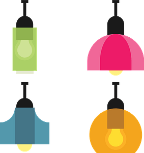 Various lamps clipart