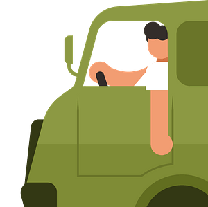 Truck driver clipart