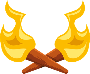 Two torches clipart