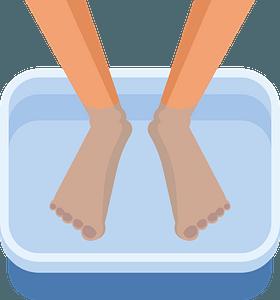 Washing legs clipart