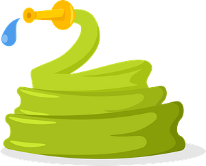 Water garden hose clipart