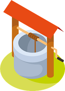 Water well clipart