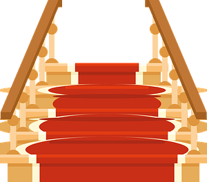 Wooden staircase clipart