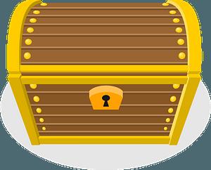 Yellow treasure chest clipart