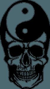 Yin-yang skull clipart