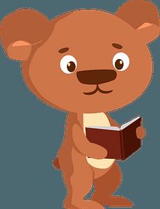 Bear at school clipart