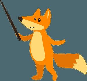 Fox at school clipart
