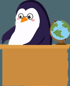 Penguin teacher clipart