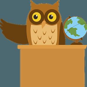 Owl teacher clipart
