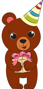 Bear's birthday clipart