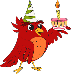 Bird's birthday clipart