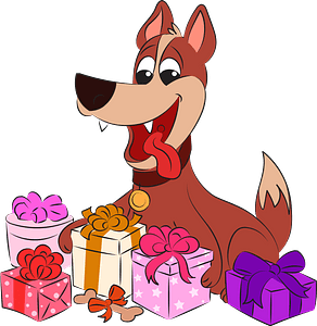 Dog's birthday clipart