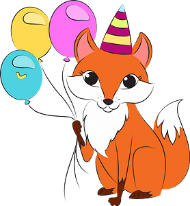 Fox's birthday clipart