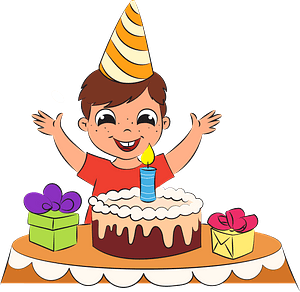 Boy's birthday clipart