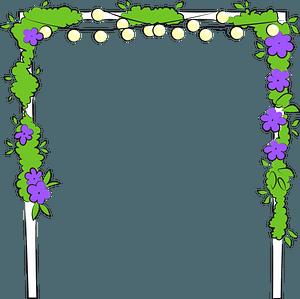 Wedding arch clipart