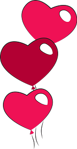 Heart shaped balloons clipart