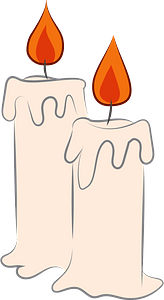 Candles clipart