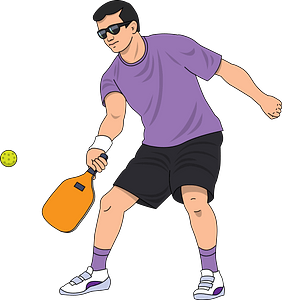 Pickleball clipart