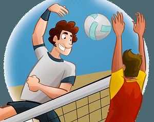Volleyball match clipart