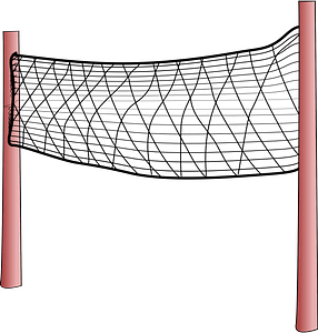 Volleyball net with posts clipart