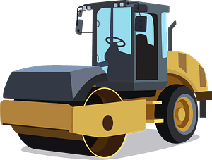 Road roller clipart