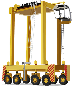 Straddle carrier clipart