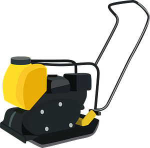 Vibratory compactor clipart