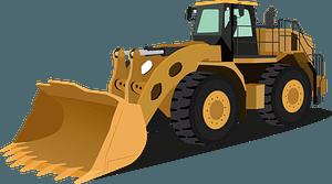 Wheel loader clipart