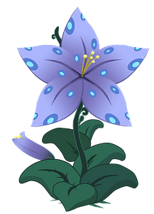Purple lily clipart