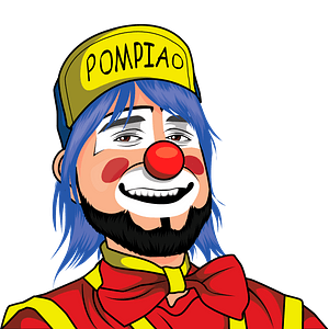 Clown portrait clipart