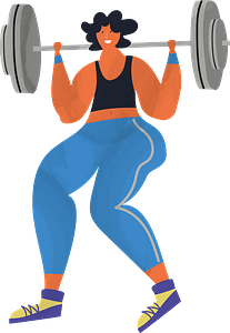 Barbell workout clipart