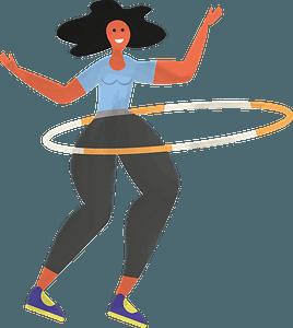 Hula hoop clipart