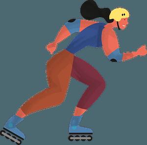 Roller skating clipart