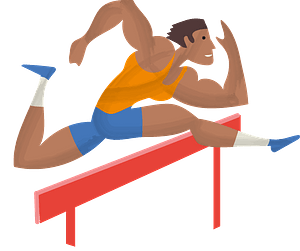 Hurdle Runner clipart