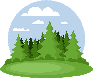 Forest glade clipart