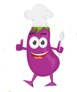 Chef aubergine clipart