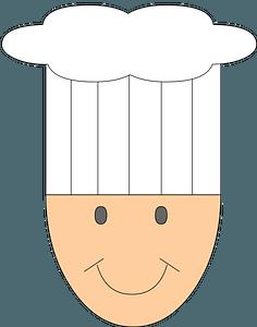 Cartoon chef face clipart