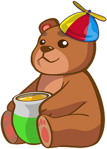 Bear With Honey clipart