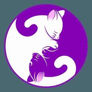 Cat yin-yang clipart