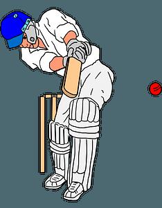 Cricket batsman clipart