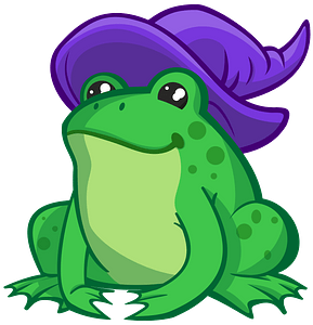 Toad In Whitch Hat clipart