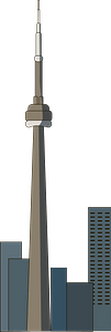 CN Tower clipart