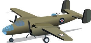 B-25 Mitchell medium bomber clipart