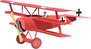 Red Baron's Fokker Dr clipart